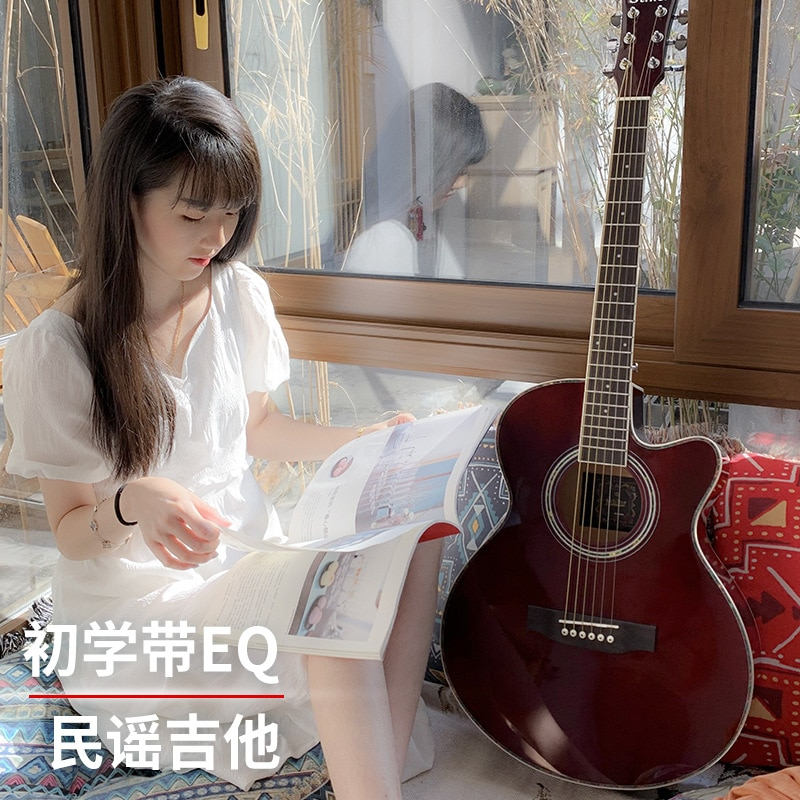 Bridge Girl Electric Guitar Gifts Wood Gifts Hollow Body Electric Guitars High Quality Guitarra Eletrica Instruments DL6DJT enlarge