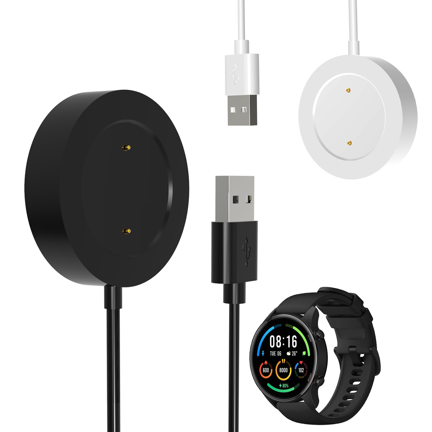 Smartwatch Dock Charger Adapter USB Charging Cable Cord Wire for Xiaomi Mi Watch Color Sports Versio