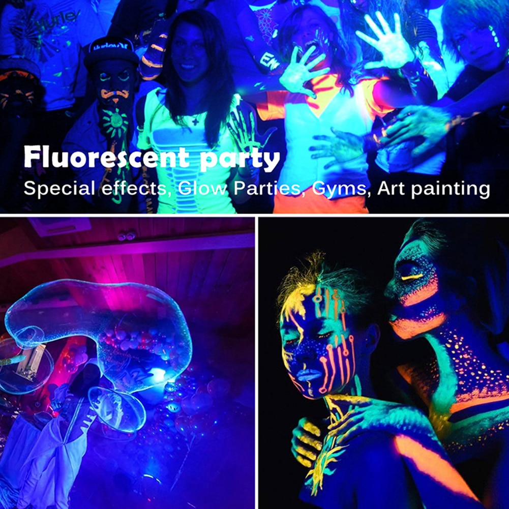 UV Flood Light Fluorescent Stage Lamp 50W UV Curing Party Stage Blacklight for Parties Curing Glue 395nm Halloween lights enlarge