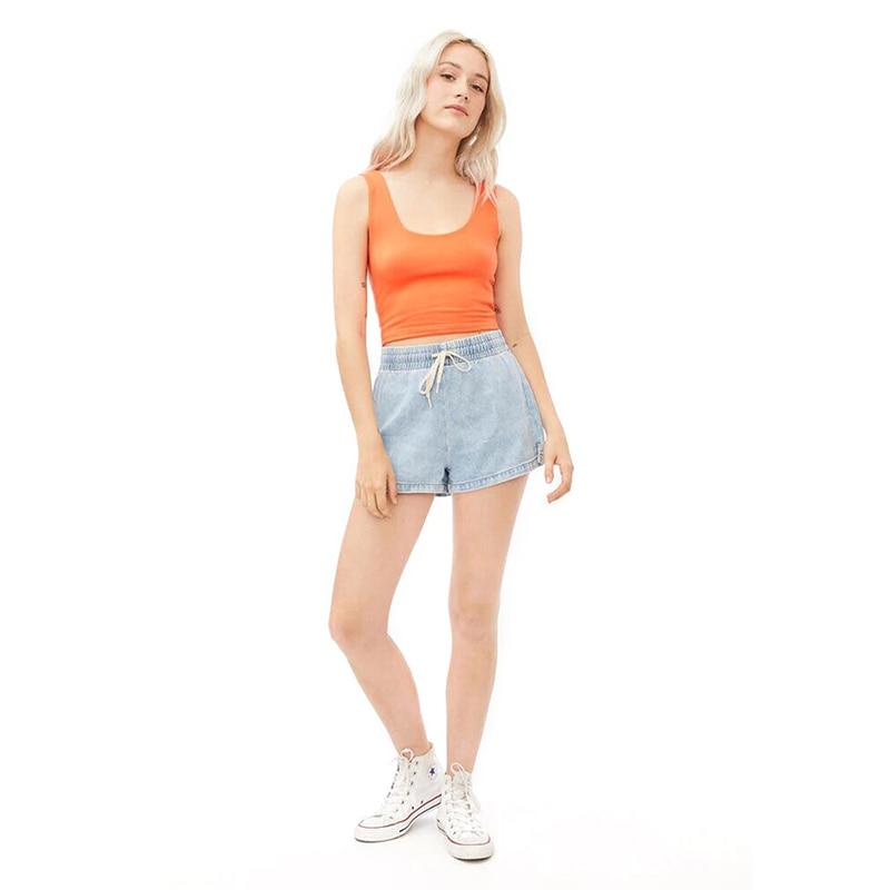 Шорты DIFIUPA женские с заниженной талией, разноцветные эластичные джинсовые шорты для уличной одежды, повседневные свободные Стрейчевые