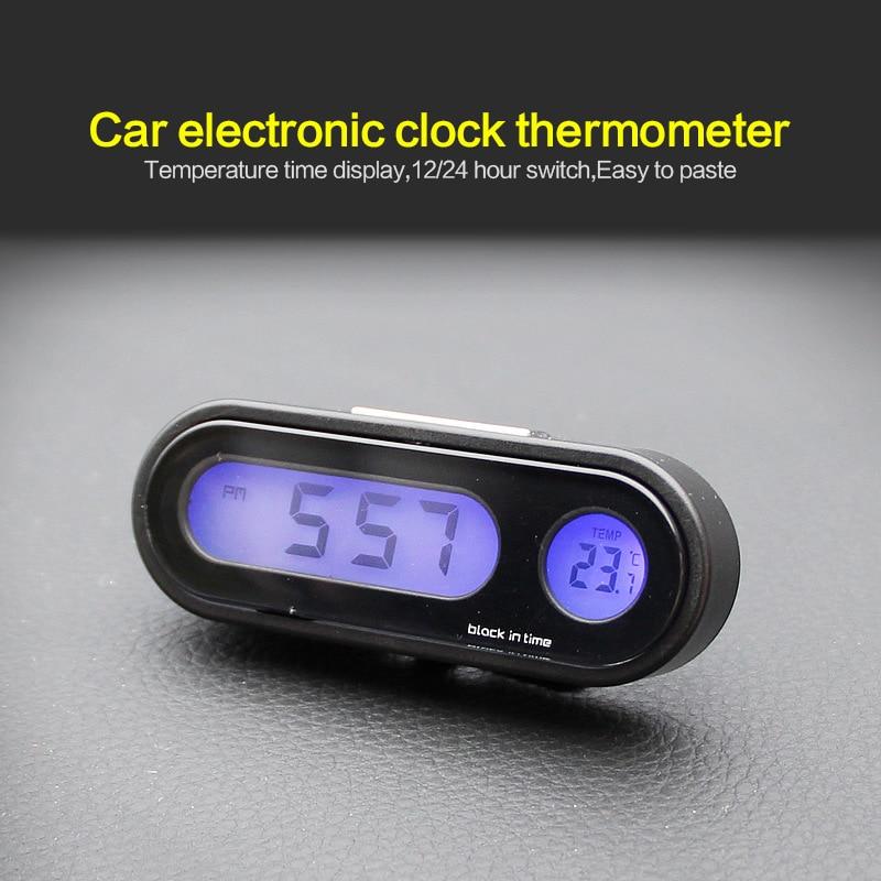 Small Portable Digital Travel Alarm Clock Automotive Electronic Stopwatch USA