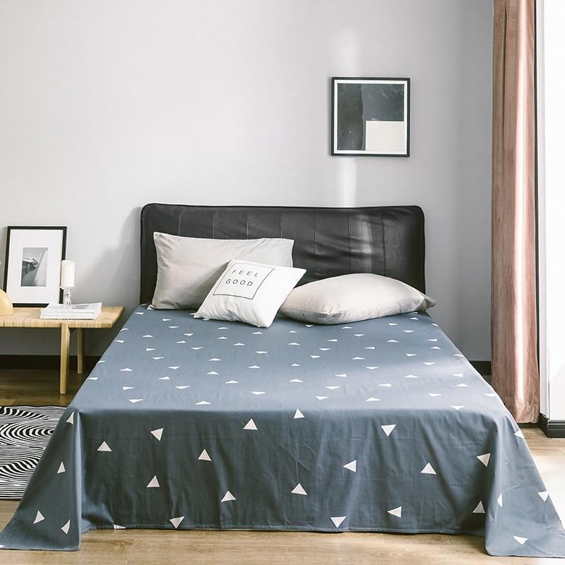 Suave sábana de algodón tamaños Multi Textiles hogar cama ropa de cama colcha de impresión de cubierta de cama hoja plana colcha
