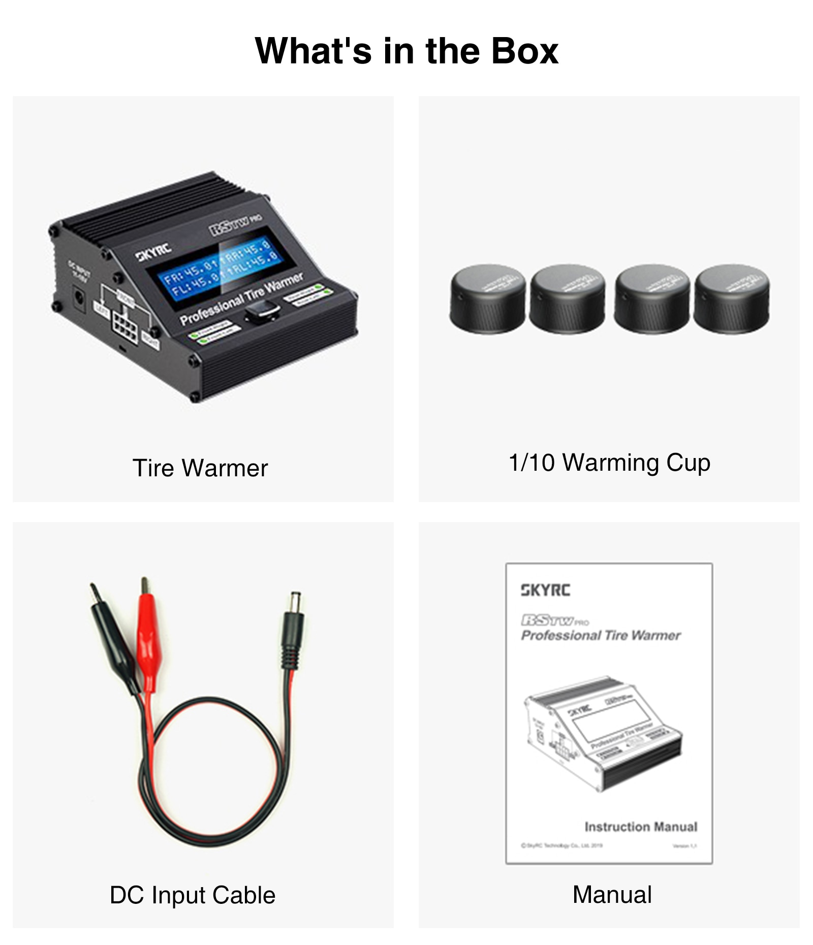 Tire Warmer Electronic MCU RSTW Temperature Controlled for 1/10 1/8 Electric Touring Car RC Racing Drift Car Accessories Parts enlarge