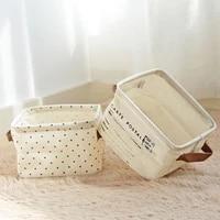 1pcs storage binnursery hamper canvas baby shower basket laundry basket foldable mini storage baskets for kids office bedroom