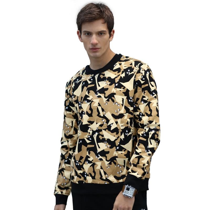 AlexPlein Graffiti Sweatshirt Men 100% Cotton Round Neck Winter Streetwear Men's Clothing Fashion Aesthetic Casual Wear Stylist