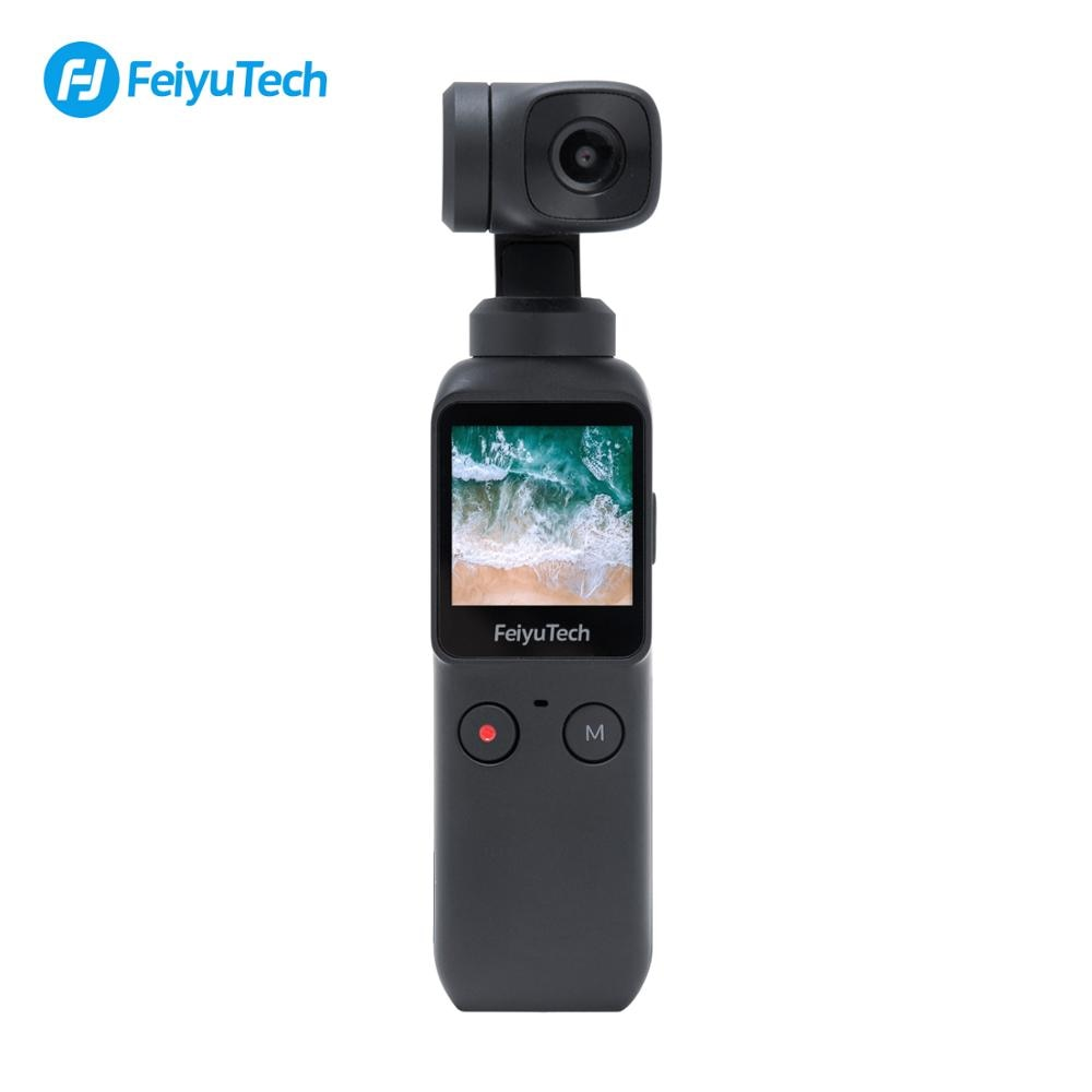 Used Feiyu Pocket Stabilized Action Camera 6-Axis Hybrid Stabilization Handheld Feiyutech Pocket Gimbal Stabilizer holder