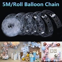 balloon accessories modeling tool plastic balloon chain birthday wedding party decoration ribbon balloon clip seal chain arch