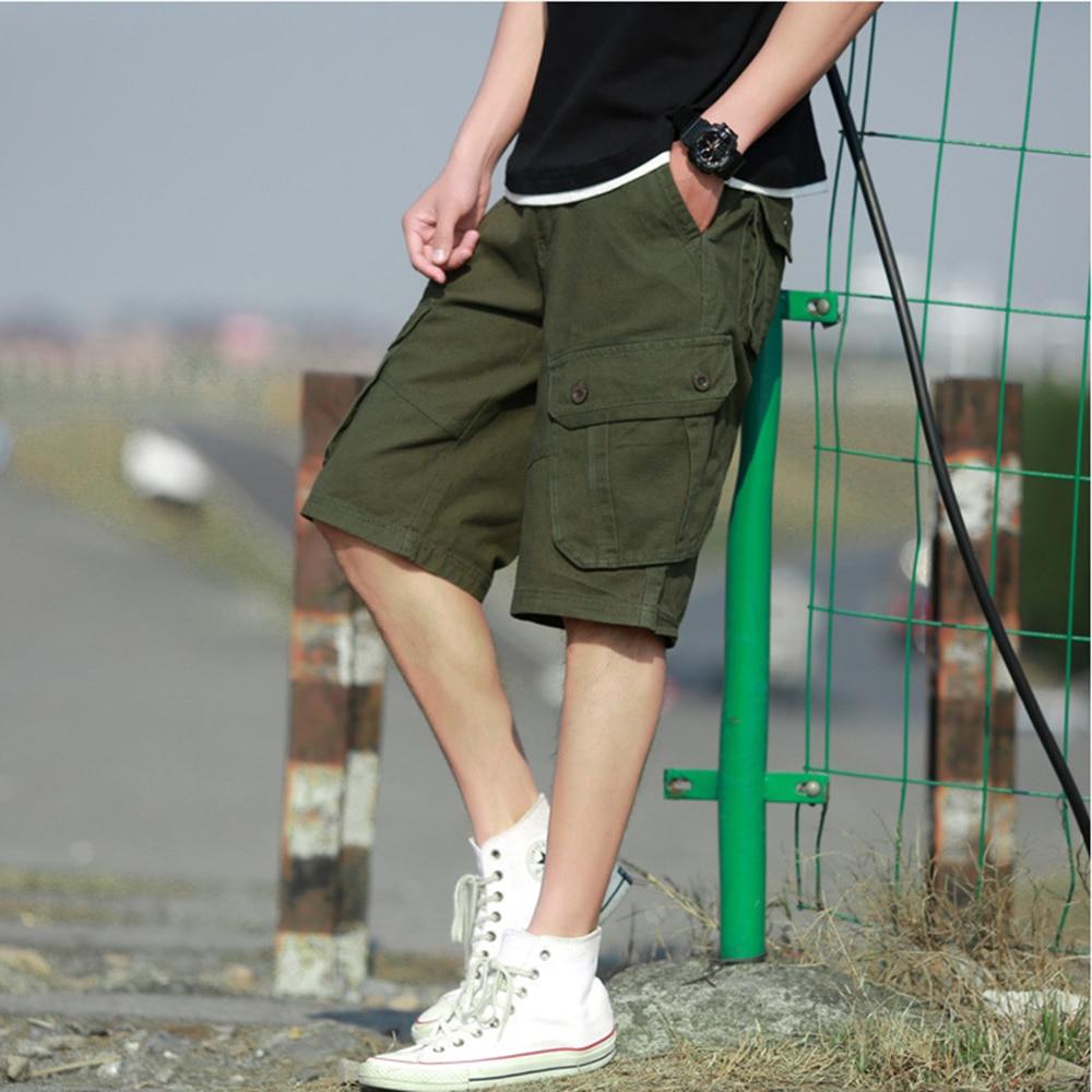 Мужские джоггеры комбинезон военные короткие брюки карго шорты мужские летние повседневные шорты с карманами мужские спортивные штаны раз...