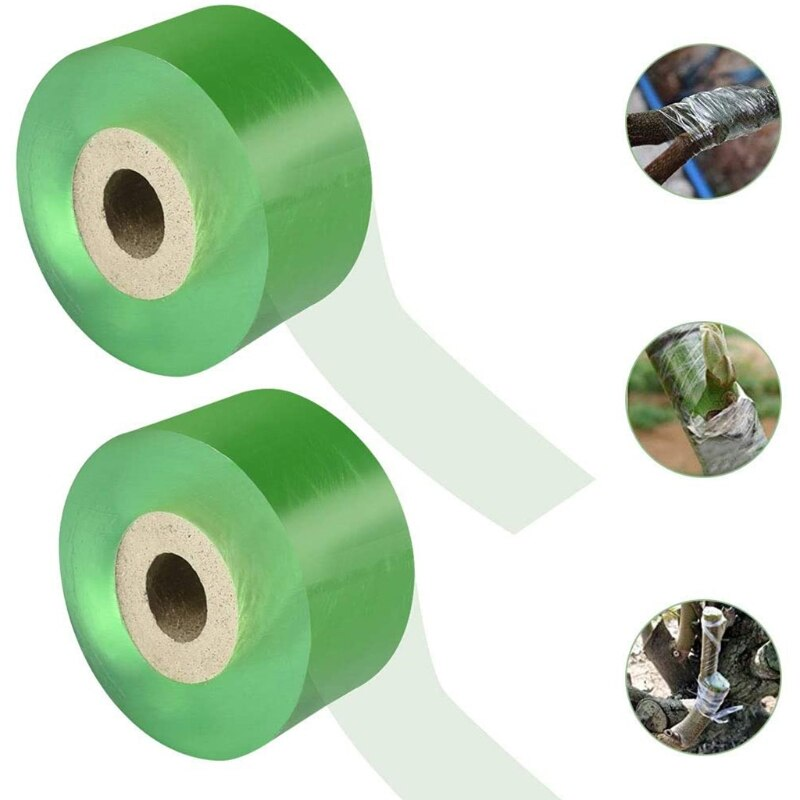 2 Rolls Grafting Tape Self Adhesive Garden Plant Repair Floristry Plug Tape Foot Stretchable Band for Floral Fruit Tree