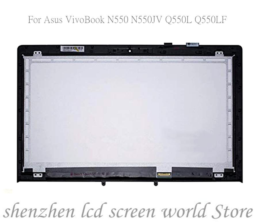 Para asus vivobook n550jv n550 q550l q550lf 13n0-pxa0111 JA-DA5357SA lcd tela de toque digitador assembléia vidro quadro