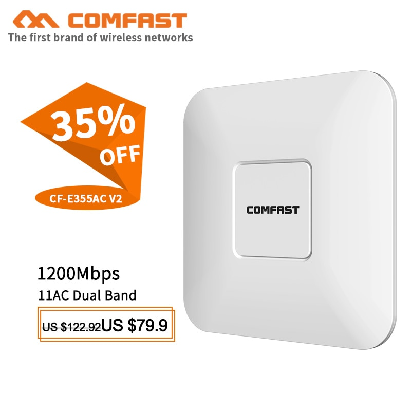 COMFAST Wireless AP 1200M Ceiling AP 802.11AC 5.8G 2.4G WIFI router 48V POE Power WiFi Access Point