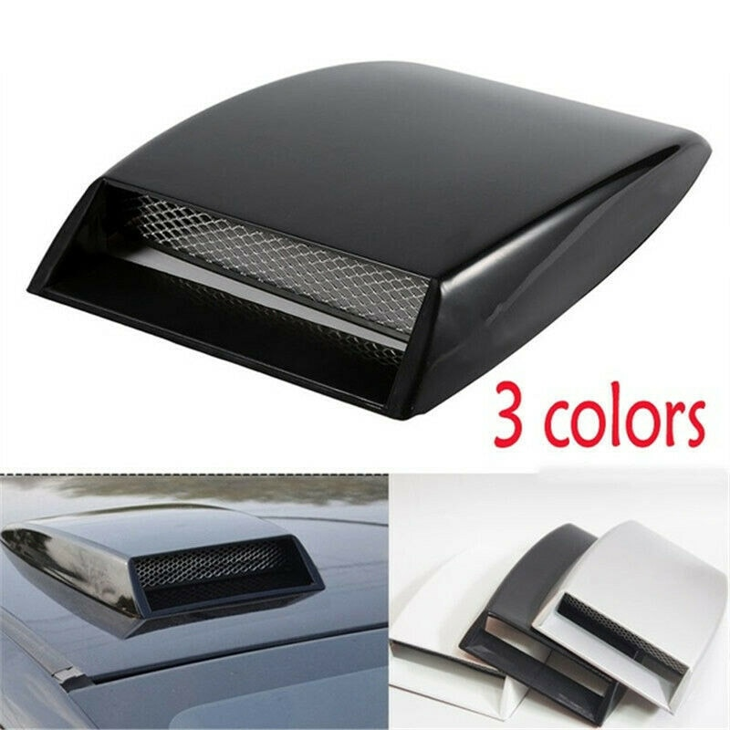 Car Air Flow Intake Hood Decoration Air Intake Hood Vent Cover Air Flow Inlet Outlet Scoop Bonnet Decor Accessories Universal
