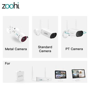 Zoohi 2MP/3MP/5MP HD IP Camera Wifi Surveillance Camera Infrared Night Vision Security Camera Compatible with K8204 K8208 NVR