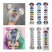 diy music water saving drill face hair stickers head jewels decorative sticking music festival nightclub body temporary tattoos