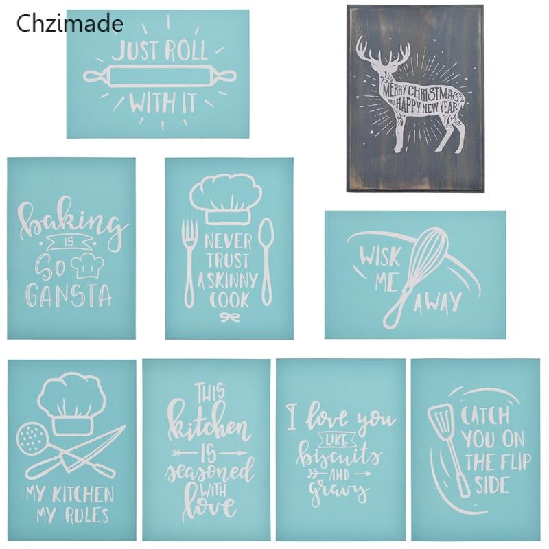 Lichi Life herramientas de cocina serigrafía esténcil para arcilla polimérica camisetas cerámica azulejo vidrio accesorios de tela para manualidades
