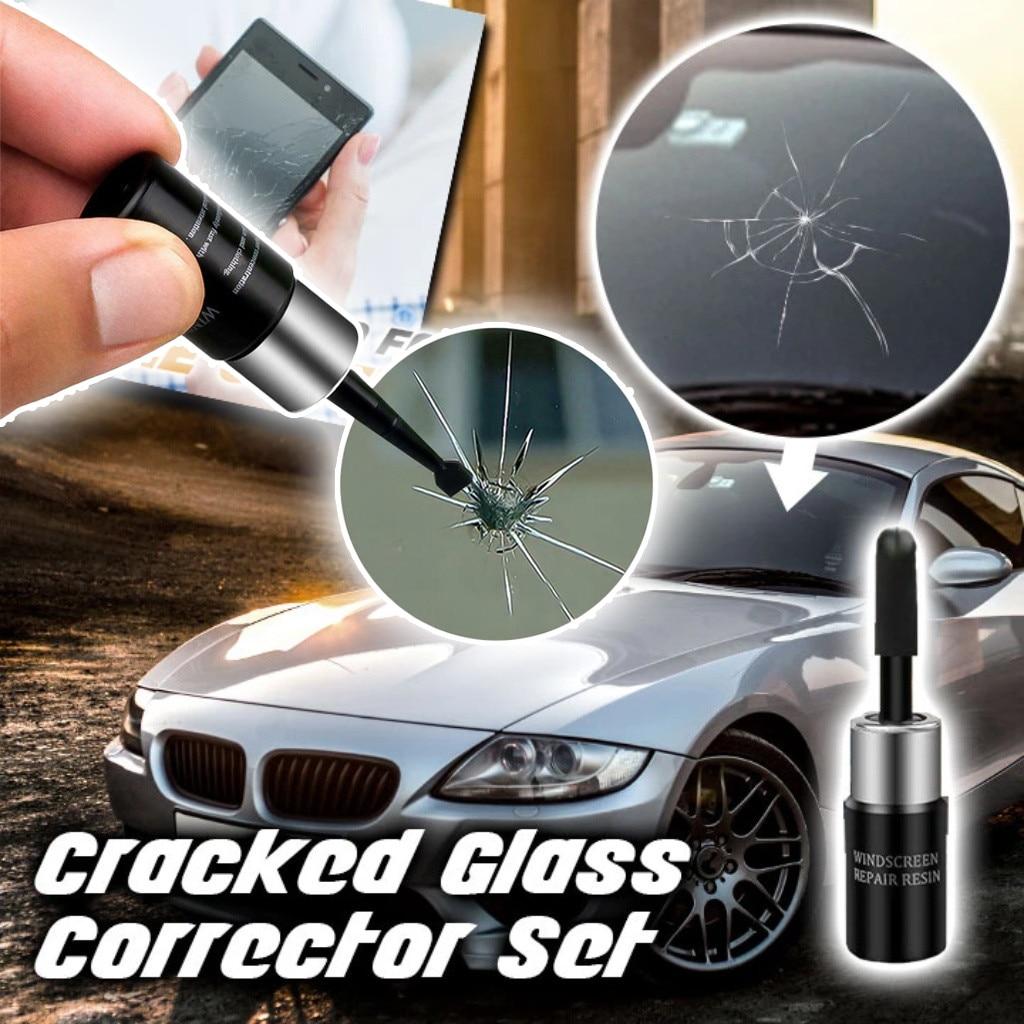 Vidro automotivo nano reparação fluido janela do carro de vidro crack chip ferramenta de reparo kit pára-brisas vidro zero crack nano-reparação fluido
