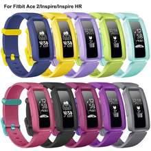 Silicone Strap For Fitbit Ace 2 Kids Bands Replacement Belt Accessories Bracelet For Fitbit Inspire/