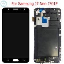 LCD J701F dorigine pour Samsung Galaxy J7 Neo affichage avec cadre Super AMOLED 5.5