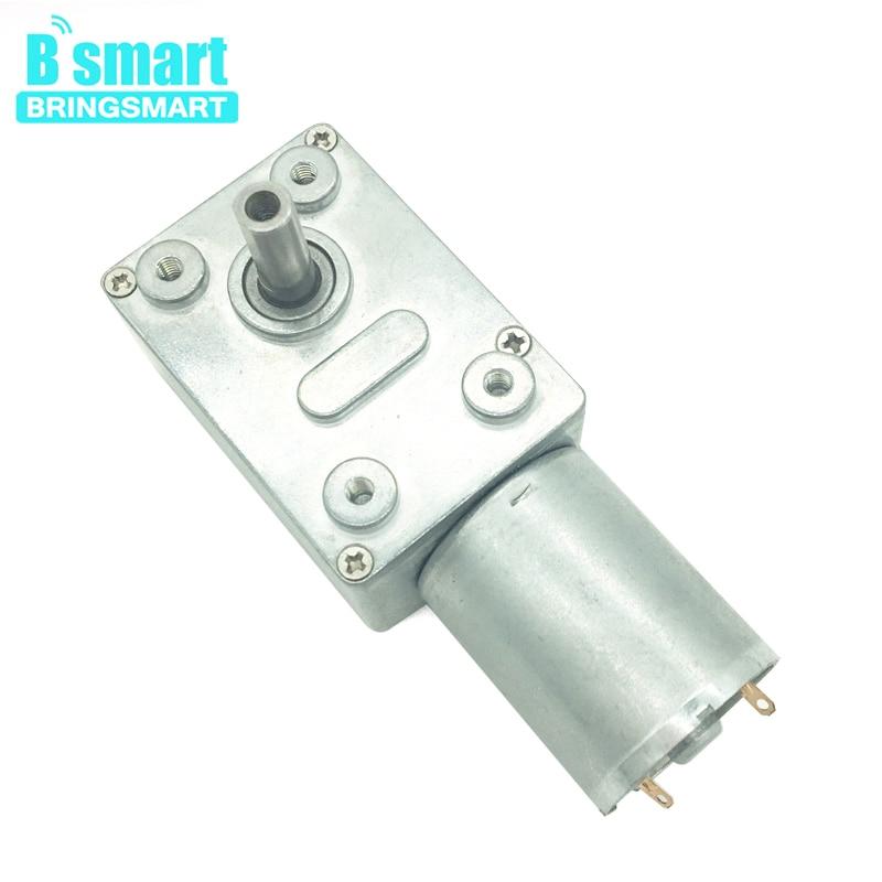 Engranaje helicoidal de Motor de 12V CC de alto Torque 3-210RPM/min invertido con Motor de autobloqueo 24V 6V para JGY-370 de Motor de cepillo de cortina DIY