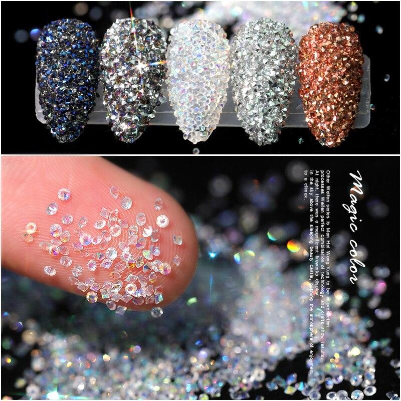 Pendientes de circonia cúbica de 1,2mm, Mini perles para decoración de uñas,...