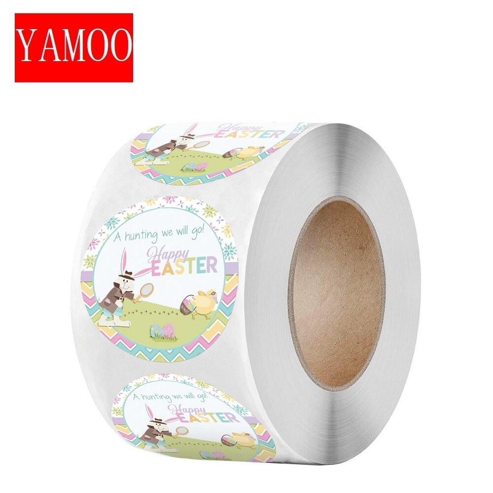 Adesivo giocattolo pasquale sigillo r grazie artigianato fatto a mano decorazione etichetta coniglio rotondo