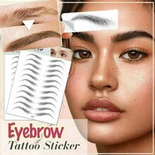 2020 NEW 9/10/18/20 Pair Eyebrows Tattoo Sticker Magic 4D Hair-like False Waterproof Lasting Makeup Water-based Eye Brow