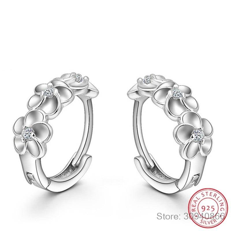 pendientes-925-пробы-серебра-с-3-цветками-и-циркония-серьги-в-виде-колец-для-Для-женщин-brincos-можно-носить-с-oorbellen-бу