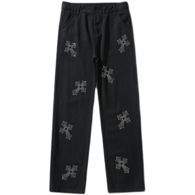 Мужские прямые джинсы ICCLEK в стиле ретро, мужские джинсы-бойфренды, мужские дизайнерские джинсы для мужчин