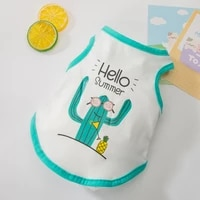 summer thin puppy dog vest clothes teddy bichon hiromi schnauzer cat pet spring and summer sleeveless t shirt breathable sweat