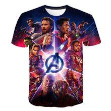 2020 3D Baby Boys T-shirt kids Avengers Marvel Superhero Anime Thor Hulk Children's Cartoon girls T-shirt teenager summer Top
