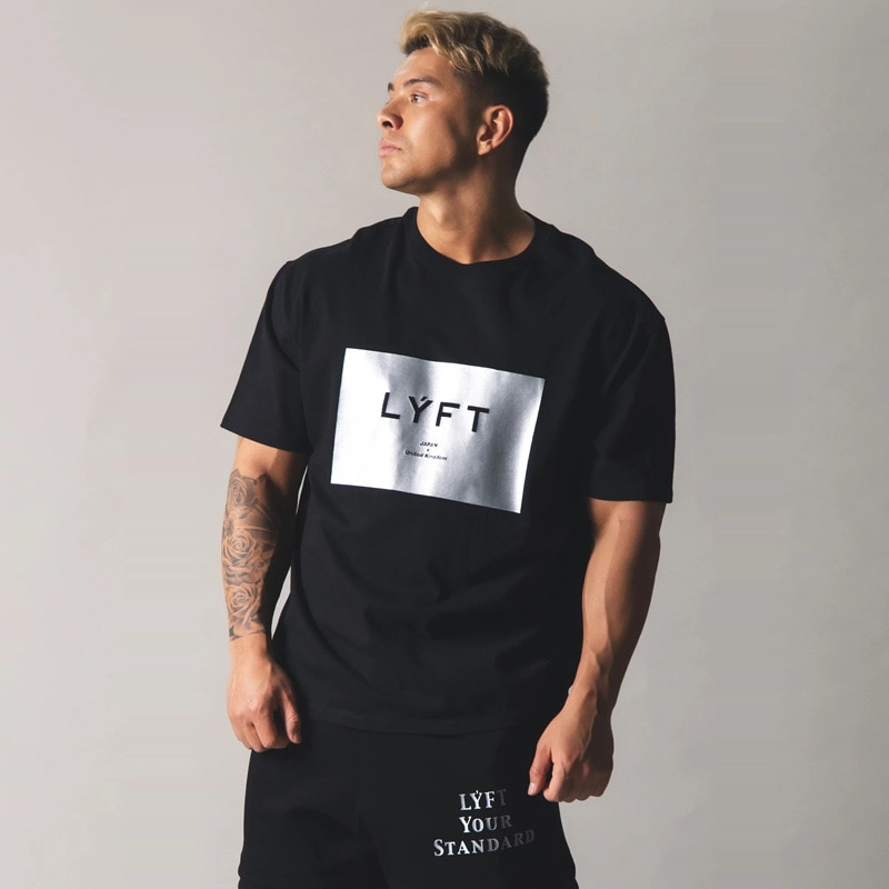 JP & UK marque hommes à manches courtes coton T-shirt décontracté en cours dexécution Looose T-shirt salle de sport Fitness entraînement T-shirt hauts hommes chemise dété