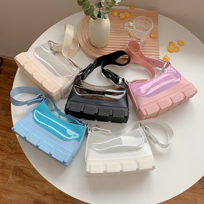 Модная сумка на плечо Csmei, модные дизайнерские прозрачные сумочки из ПВХ, женские сумочки, дамские сумочки, прозрачные кошельки для женщин набор для вязания аксессуаров avenir модные сумочки