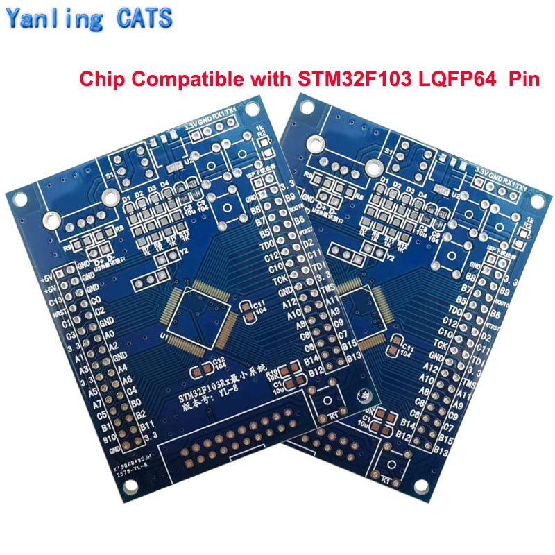 STM32F103 Development Board PCB Kit for STM32 Discovery  Arm Cortex M3 RB RC RD RE LQFP64 Pin DIY Welding v9 v8 emulator adapter board supports jtag cortex stm32 super multi interface