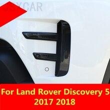 Ankunft Frontschürze Nieder Einsatz Nebel Lampe Abdeckung ABS Nebel Licht Maske Abdeckung Grill Grid Für Land Rover Discovery 5 2017 2018