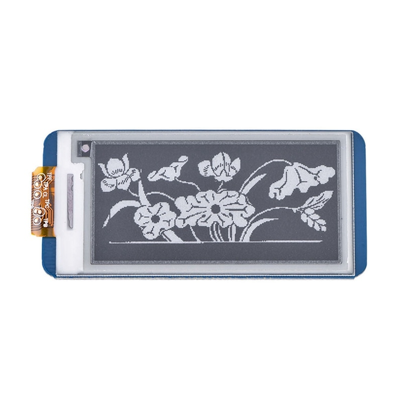 Waveshare 2,13 pulgadas e-paper HAT,250x122, e-ink Display para RaspberryPi 2B/3B/Zero W,Color negro, blanco