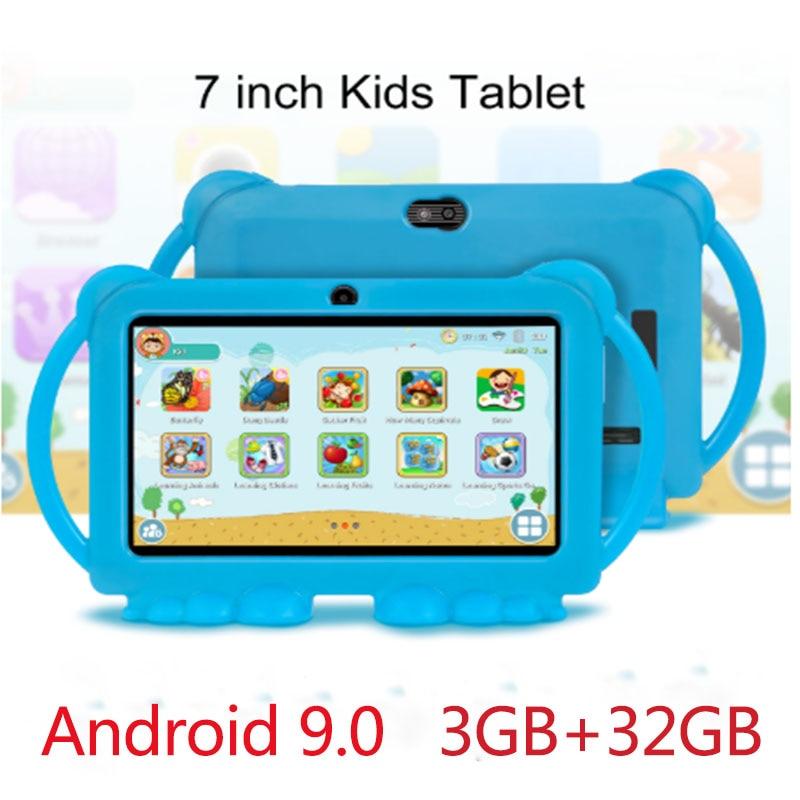 جهاز لوحي تعليمي للأطفال مقاس 7 بوصات ، نظام أندرويد 9.0 ، 3 جيجابايت ، 32 جيجابايت ، مع جراب سيليكون ، شحن USB رباعي النواة
