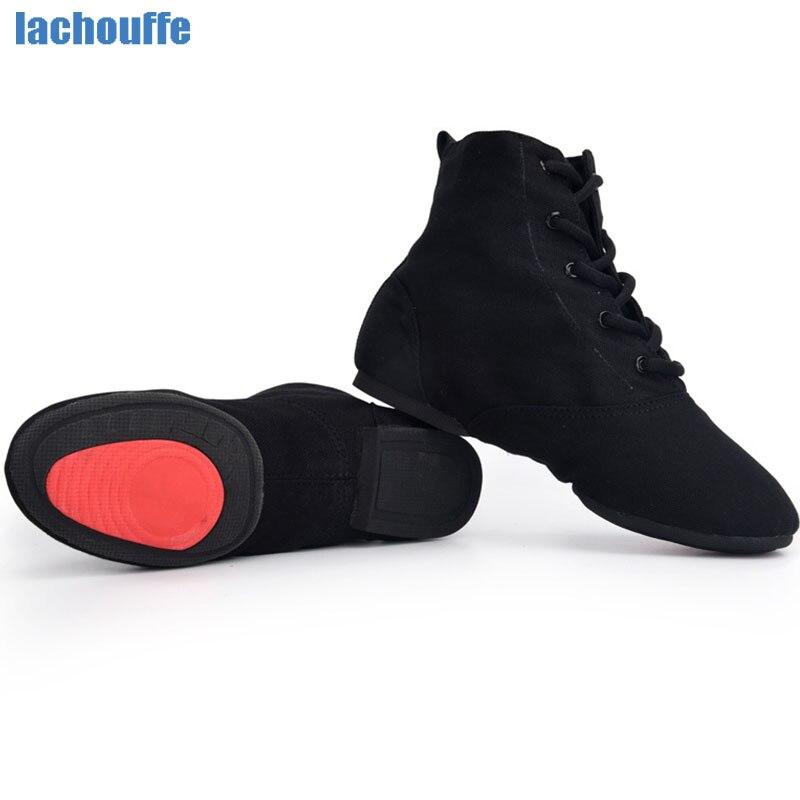 Обувь для танцев; Обувь для мальчиков; Мужская обувь для танцев на мягкой резиновой подошве; Женская и мужская обувь для танцев в Стиле Джаз/Сальса/бальных танцев; Женская обувь из парусины Красного/черного цвета; EU30-45