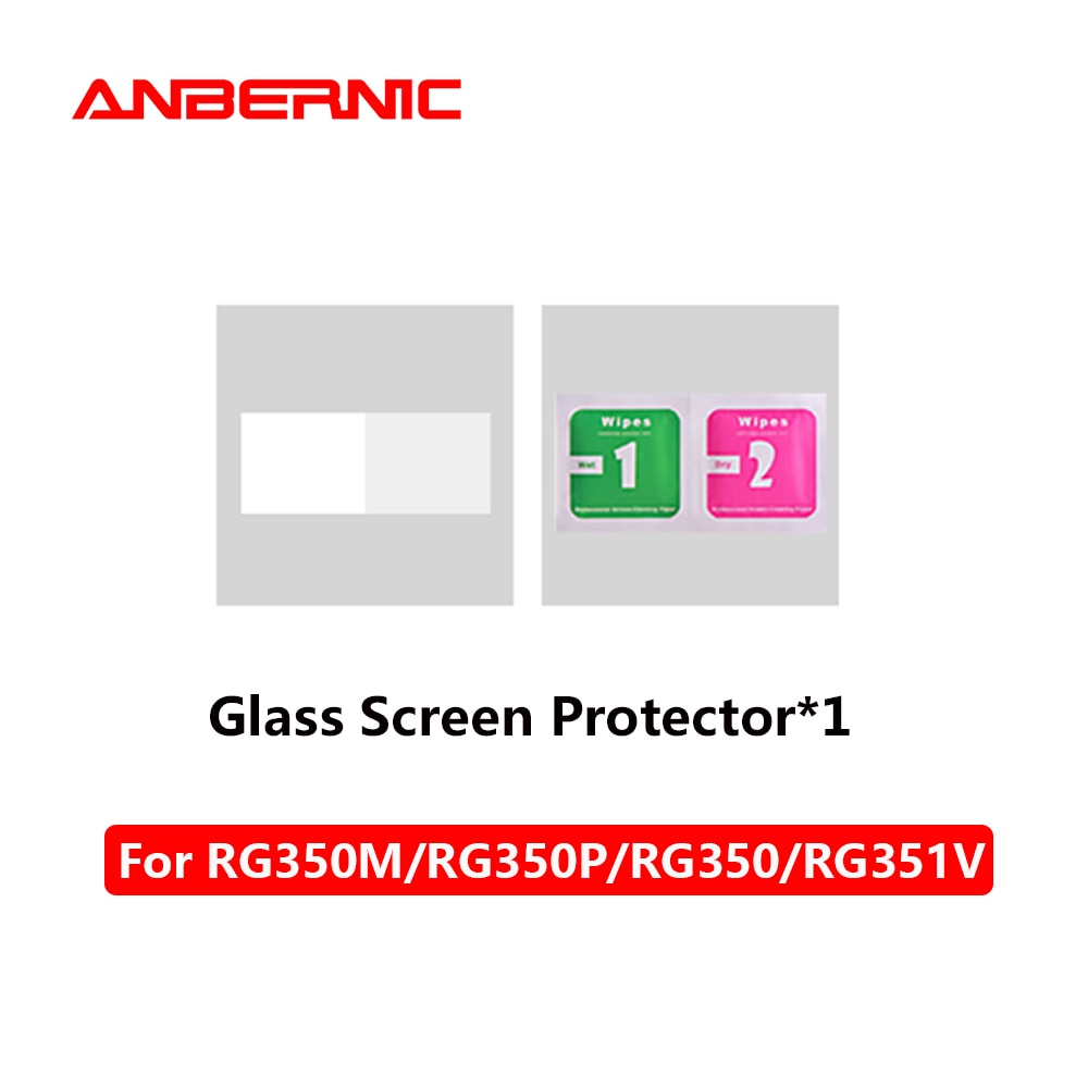 ANBERNIC-Protector de pantalla de vidrio para juegos Retro, bolsa Universal para RG350M/RG351P/RG350/RG350P/RG280V/RG280M/RG351M/RG351V