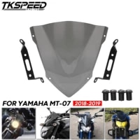for yamaha mt 07 fz 07 2018 2019 2020 windshield windscreen motorcycle accessories pare brise wind deflectors mt07 fz07 mt fz 07