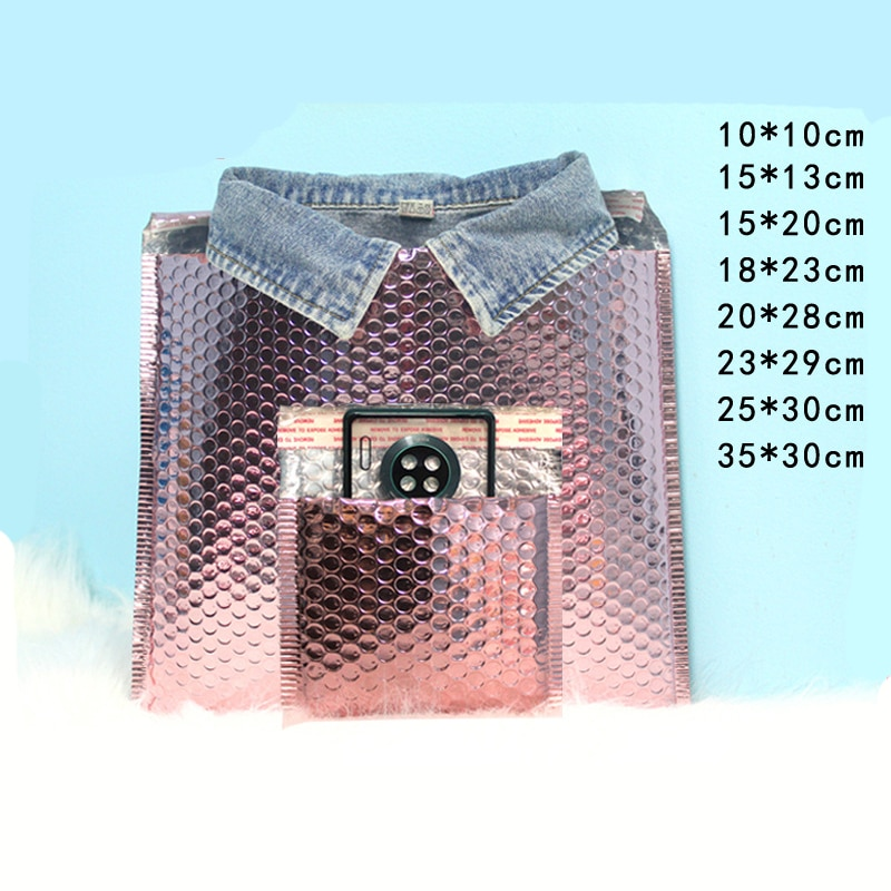 wholesale Rose Gold CD/CVD Packaging Shipping Bubble Mailers paper Padded Envelopes Gift Bag Bubble Mailing Envelope Bag