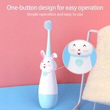 Nuevo cepillo de dientes eléctrico para niños con patrón de dibujos animados cepillo de dientes eléctrico para niños con cabeza de repuesto suave