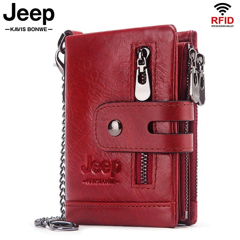 محفظة نسائية من الجلد الطبيعي ، محفظة صغيرة بسحاب مزدوج ، حامل بطاقات الهوية