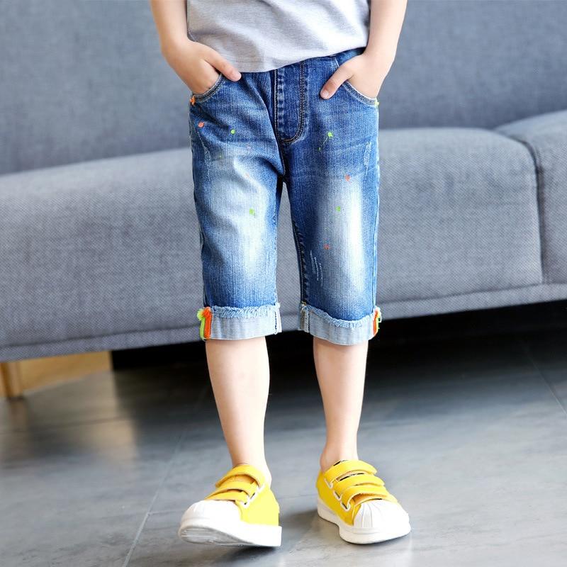 IENENS Kids Fashion Baby Boys Summer Denim Short Pants Jeasn Clothes Children Boy Casual Elastic Waist Trousers Clothing