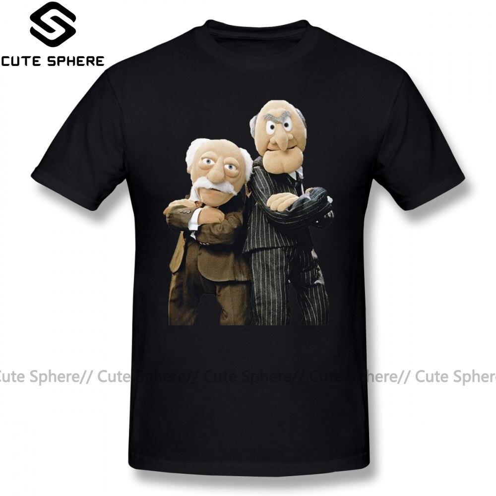 Camiseta de manga corta para hombre de Muppets, camiseta de Statler y Waldorf, camiseta estampada 100 por ciento de algodón de talla grande