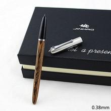 Haute qualité JINHAO luxe bois Stylo plume Stylo à encre plume 0.38mm caneta tinteiro bureau Stylo plume Penna stilografica 51