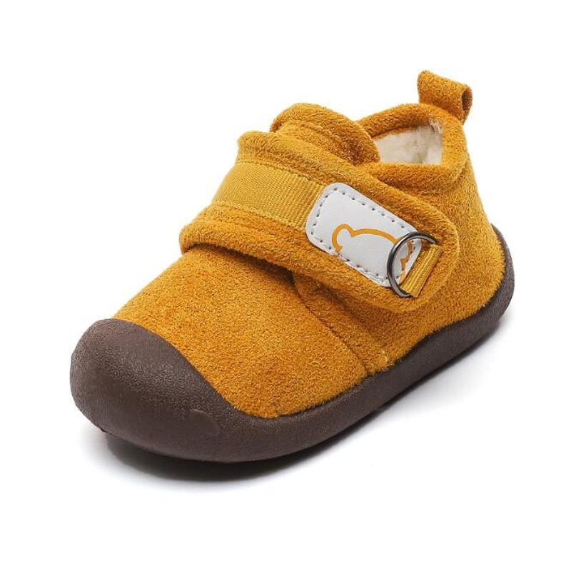 kids winter snow boots boys girls mid calf slip resistant children s rubber boots plush warm outdoor casual shoes size 24 39 2020 Winter Infant Toddler Boots Warm Plush Baby Girls Boys Snow Boots Outdoor TPR Soft Bottom Non-Slip Children Boot Kids Shoes