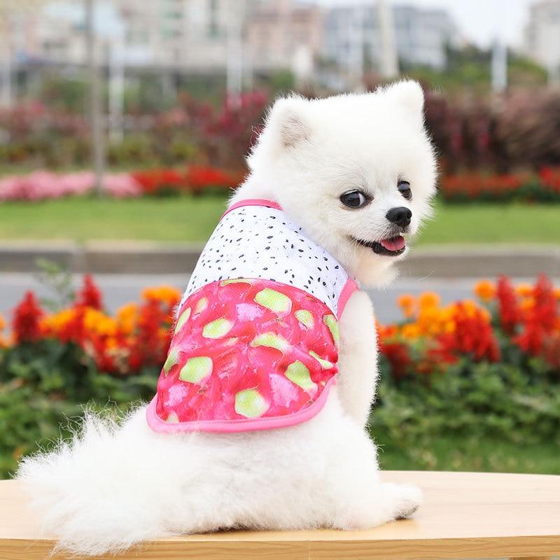 Cute Fruit Pet Spring Summer Clothes Dog Vest Cat Breathable Costume