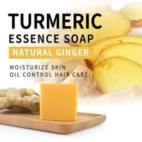 turmeric soap herbal natural scrub cleaning nourishing oil control whitening acne treatment mite removal face skin care soap s1