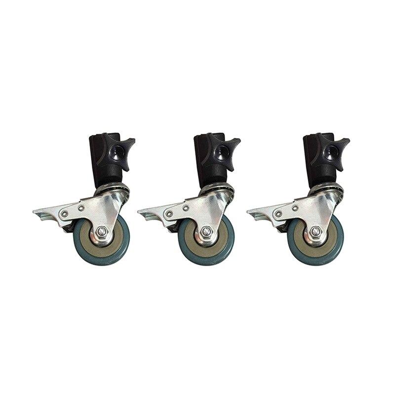 3 pcs 22mm photo studio universal rodízio roda tripé polia resistente para suportes de luz/estúdio boom