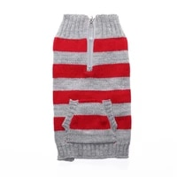 classic dog clothes cardigan winter cat puppy yorkie poodle schnauzer pug french bulldog sweater red rhombus pet coat